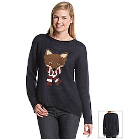 Jolt® Fox With A Scarf Sweater
