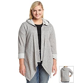 Jessica Simpson Plus Size Hadyn Flyaway Hooded Cardigan
