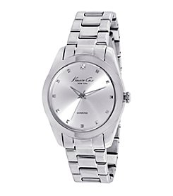 Kenneth Cole New York® Women's Silvertone Diamond Watch