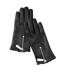 MICHAEL Michael Kors® Leather Zipper Gloves