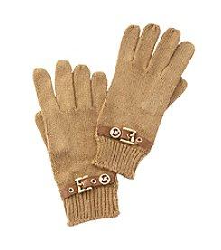 MICHAEL Michael Kors® Dark Camel Belted Gloves