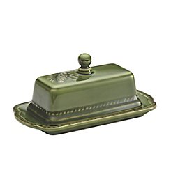 BonJour® Sierra Pine Stoneware Forest Covered Butter Dish