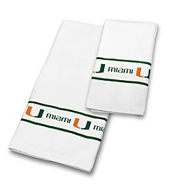 University of Miami Sports Coverage® Towel Set