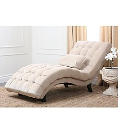 Abbyson Living® Soho Cream Fabric Chaise