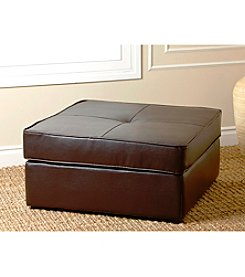 Abbyson Living® Capri Square Bonded Leather Ottoman