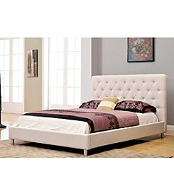 Abbyson Living® Newport Tufted Linen Platform Bed