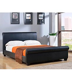Abbyson Living® Concord Black Bonded Leather Platform Bed