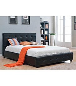 Abbyson Living® Montego Tufted Bonded Leather Platform Bed