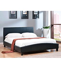 Abbyson Living® Caroline Black Leather Platform Bed