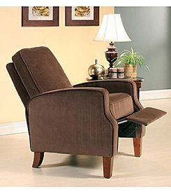 Abbyson Living® Carmen Brown Microsuede Pushback Recliner