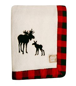 Trend Lab Northwoods Framed Receiving Blanket with Moose Applique