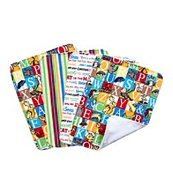 Trend Lab 4-Pack Dr. Seuss Alphabet Burp Cloth Set
