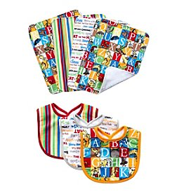 Trend Lab 7-Pack Dr. Seuss Alphabet Bib and Burp Cloth Set