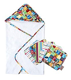Trend Lab Dr. Seuss Alphabet Hooded Towel and Wash Cloth Set