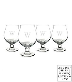 Cathy's Concepts Personalized Set of Four Belgian Beer Glasses