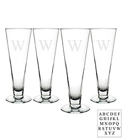 Cathy's Concepts Personalized Set of 4 Classic 16-oz. Pilsner Glasses