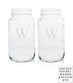 Cathy's Concepts Personalized 26-oz. Set of 2 Mason Jars