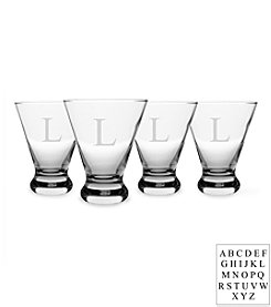 Cathy's Concepts Personalized Cosmopolitan Set of 4 Cocktail Glasses