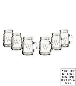 Cathy's Concepts Personalized Set of 6 Mini Drinking Jar Shot Glasses