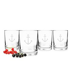 Cathy's Concepts Anchor Set of 4 Drinking Glasses
