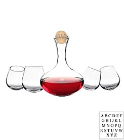 Cathy's Concepts Personalized Wine Decanter and Tipsy Tasters 5-pc. Set