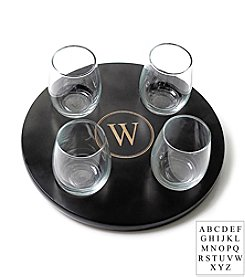 Cathy's Concepts Personalized Round Wine Flight Sampler with 4-pc. Glass Set