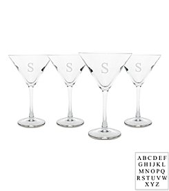 Cathy's Concepts Personalized Set of 4 Martini Glasses