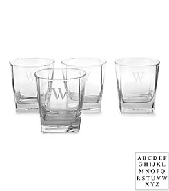 Cathy's Concepts Personalized Set of 4 Rocks Glasses