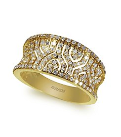 Effy® .52 ct. t.w. Diamond Filigree Ring in 14K Yellow Gold