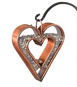 Good Directions® Heart Fly-Thru™ Venetian Bronze Bird Feeder