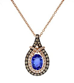 Effy® Tanzanite and .35 ct. t.w. Diamond Pendant in 14K Rose Gold
