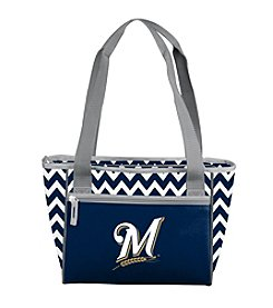 MLB® Milwaukee Brewers Chevron Can Cooler Tote
