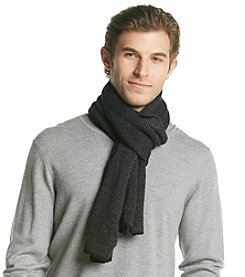 Calvin Klein Men's Multi Stitch Tweed Muffler
