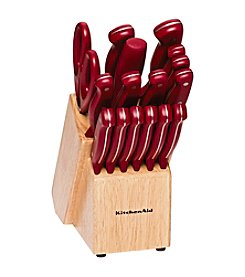 KitchenAid® 17-pc. Red Stamped Triple Rivet Cutlery Set
