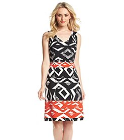 Nine West® Geometric Print A-Line Dress