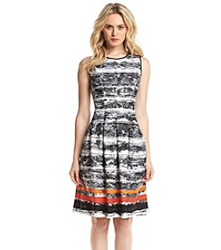 Nine West® Seamed Full Skirt Dress