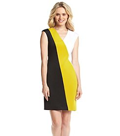 Calvin Klein Tri Coloblock Sheath Dress