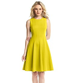 Calvin Klein Seamed Bodice Fit & Flare Dress