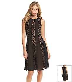 Nine West® Multi Panel Fit & Flare Dress