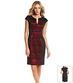 Connected® Lace Panel Sheath Dress