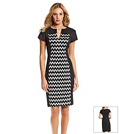 Connected® Chevron Panel Sheath Dress