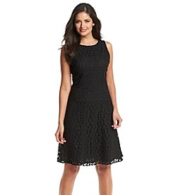 Anne Klein® Embellished Banded Swing Dress
