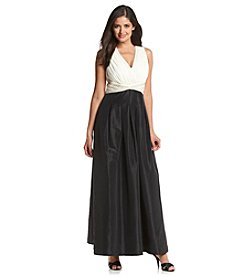 Sangria® Sleeveless Colorblock Taffeta Gown