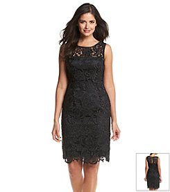 Adrianna Papell® Sleeveless Lace Lined Dress