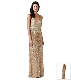 Adrianna Papell® Sleeveless Beaded Blouson Gown