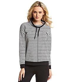 Jones New York Sport® Petites' Striped Cowlneck Pullover