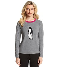 Jones New York Signature® Petites' Penguin Sweater
