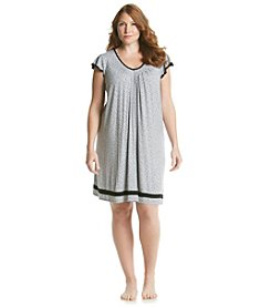 Ellen Tracy® Plus Size Chemise - Gray Heather Dot