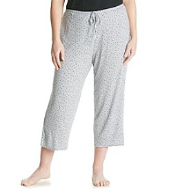 Ellen Tracy® Plus Size Knit Capris - Gray Heather Dot