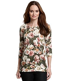 Love by Design Floral Sweater Tunic